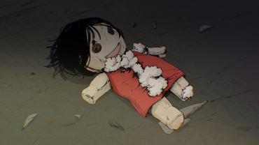 Un pañuelo en el suelo