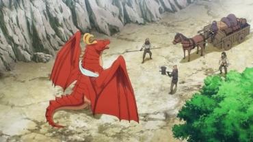 Un cazador va a la caza de un dragón